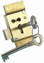 B6264 Heavy Duty Straight Cupboard Lock