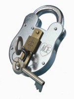 "S1287 ""Old English"" Padlock c/w Bush & Slide"