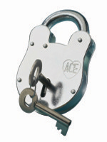 "S1289 ""Old English"" Padlock c/w Plain Front"