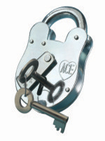 "S1314 ""Old English"" Padlock c/w Swing Bar"